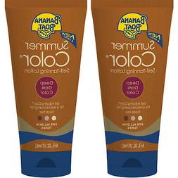 2 Pack Banana Boat Summer Color Self-Tanning Lotion, Deep Da
