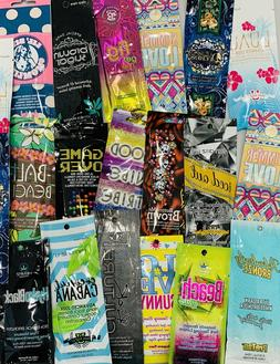 Assorted Premium Tanning Lotion Sample Packets *Lot of 10* D