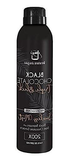 BLACK CHOCOLATE TRIPLE BLACK Sunless Mist 7.4 oz With APPLIC