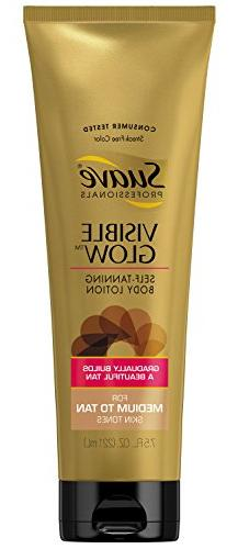 Suave Professionals Visible Glow Self Tanning Body Lotion, M