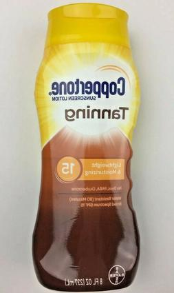 Coppertone Tanning Sunscreen Lotion No Dyes PABA Oxybenzone,